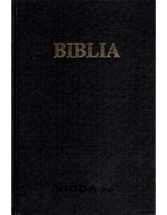 Biblia - Format Mare - Neagra - Coperta piele - Margini aurii