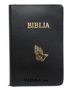 Biblia - Format foarte mare - In piele cu fermoar - Maini in rugaciune