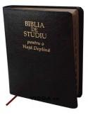 Biblia de studiu pentru o viata deplina cu explicatii - Margini aurii - Index de cautare - Piele - Neagra