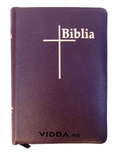 Biblia Thompson - Format mediu - Piele visinie cu fermoar - Index de cautare - Margini aurii 1