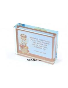Ornament sticla - Multumiti lui Dumnezeu