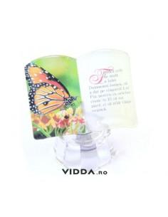Ornament sticla cu led - Fiindca atat de mult a iubit Dumnezeu lumea