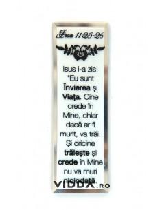 Oglinda Inscriptionata - Isus i-a zis: Eu sunt Invierea si Viata