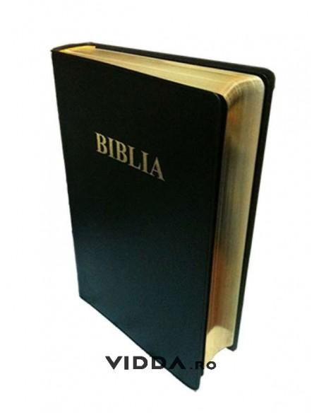Biblia de lux - Format mic - Margini aurii - Neagra - Coperta flexibila