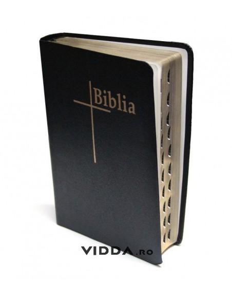 Biblia Thompson - Format mediu - Index de cautare - Margini aurii - Piele neagra fara fermoar