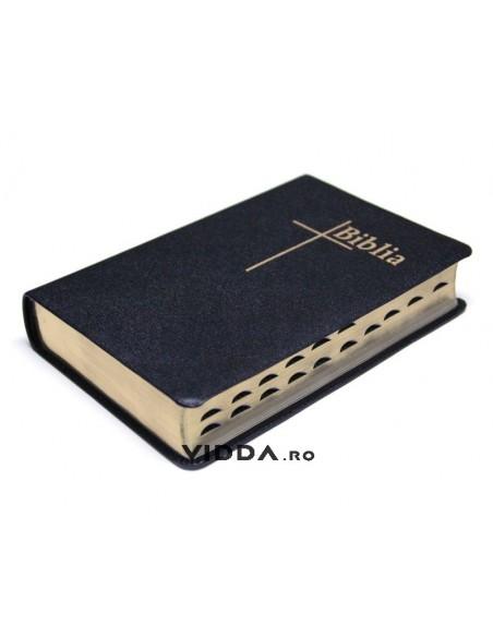 Biblia Thompson - Format mediu - Index de cautare - Margini aurii - Piele neagra fara fermoar 1