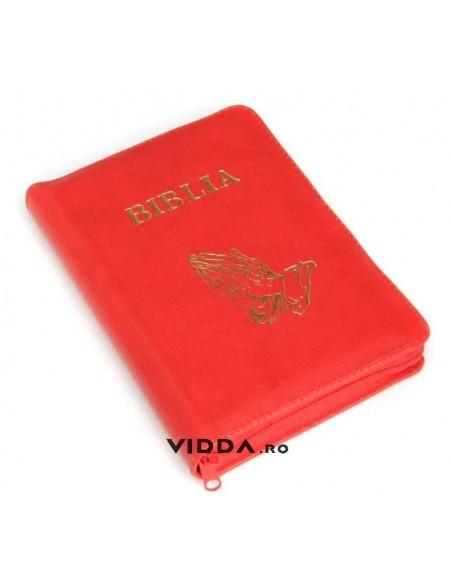 Biblia - Format mic - Rosie - In piele cu fermoar - Maini in rugaciune 1