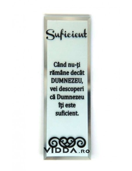 Oglinda Inscriptionata - Cand nu-ti ramane decat Dumnezeu